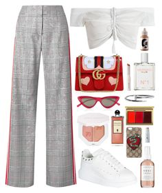 """""""Romantic"""" by daniielar ❤ liked on Polyvore featuring Monse, Alexander McQueen, Gucci, Le Specs, Herbivore, Mermaid, Puma, MAC Cosmetics and Serge Lutens"""