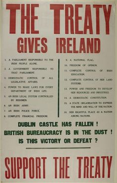 Flashback to the turbulent beginning of Saorstát Éireann, which was hurtling towards civil war even as it gained statehood. Ireland 1916, England Ireland, Cork Ireland, Dublin Ireland, Northern Ireland Troubles, Irish Independence, Irish Free State, Easter Rising, Protest Posters