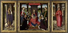 The Donne Triptych (about 1478) by Hans Memling (1430-1494)