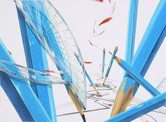 2017 한양대 실기대회 수상작 주제 : 네이버 블로그 Space Design, Design, Wallpaper, Illustration, Drawings, Painting, Illusions, Art, Wall Painting