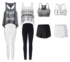 """""""ACTIVEWEAR"""" by annieanne-tumblr13 ❤ liked on Polyvore featuring Topshop, H&M, Lyssé Leggings, Ally Fashion, NIKE and Reebok"""