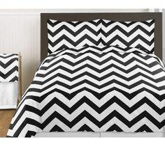 Black and White Chevron 3pc Childrens and Teen Zig Zag Full / Queen Bedding Set Collection, http://www.amazon.com/dp/B00ICM9HPW/ref=cm_sw_r_pi_awdm_NxLatb1J7T25V