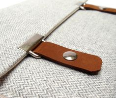 iPad / iPad Air case light gray herringbone by MariForssell, $75.00
