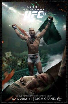 UFC 189 Aldo McGregor poster