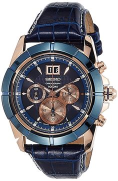 17c8a2c8a70 Buy Seiko Lord Chronograph Blue Dial Men s Watch - SPC158P1 Online at Low  Prices in India - Amazon.in