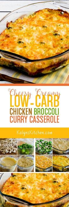 We swooned over this Cheesy Creamy Low-Carb Chicken Broccoli Curry Casserole, and this delicious casserole with chicken, broccoli, and curry is also gluten-free! [found on KalynsKitchen.com]