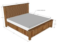 Ana White | Build a Cassidy Bed - KING | Free and Easy DIY Project and Furniture Plans