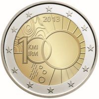 euro: 100 years of the Royal Meteorological Institute.Country: Belgium Mintage year: 2013 Issue date: Face value: 2 euro Diameter: mm Weight: g Alloy: Bimetal: CuNi, nordic gold Quality: Proof, BU, UNC Mintage: 2 mil. Billet En Euros, Euro Coins, Foreign Coins, Coin Design, Forex Trading Signals, Coin Display, Commemorative Coins, Proof Coins, Gold Bullion