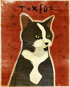 John W. Golden. Oh my!! This is totally what my cat Tuxedo looks like!!  How about that?!?