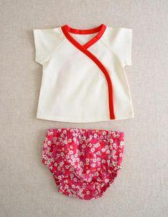 sewn layette pattern (inc kimono top, bloomers, romper & pants)