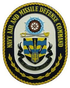 MilitaryPlaques.com hand carved from painting to finish plaque of US Navy Air Missile Defense Command.