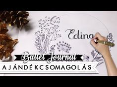 Decorating a wrapping paper with Bullet Journal style flower motives and calligraphy letters. DIY wrapping paper with flower drawings an excellent nameday gi. Diy Wrapping Paper, Floral Doodle, Diy Papier, Paper Drawing, Calligraphy Letters, Bullet Journal, Wraps, Doodles, Diy Decoration