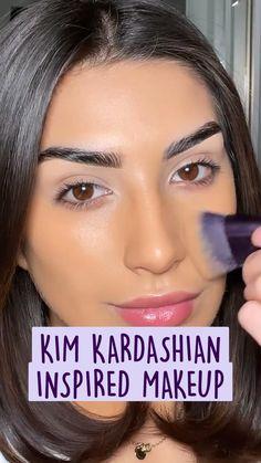 Makeup Tutorial Eyeliner, Makeup Looks Tutorial, Contour Makeup, Skin Makeup, Makeup Brushes, Fall Makeup Looks, Glam Makeup Look, Blue Eye Makeup, Maquillage On Fleek