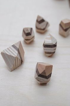 Wooden Crystals (please leave a comment if you know the source! I've forgotten.)