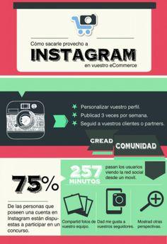 #Infografia #SocialMediaMarketing Instagram en comercio electrónico #TAVnews