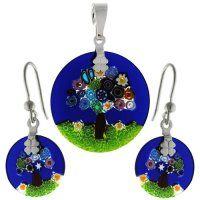 - Set z muránskeho skla Murano Glass, Glass Jewelry, Washer Necklace, Swarovski, Color, Colour, Colors