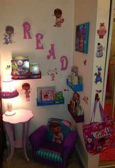 doc mcstuffins kids room | Doc McStuffins Themed Mini Children's Library!