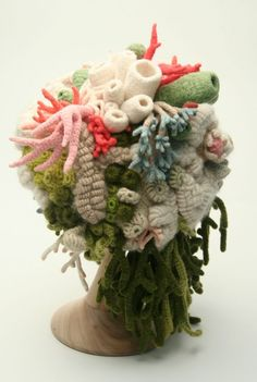 Freeform+Fiber+Yarn+Knit+Crochet+Hat  ...by Helle Jorgensen