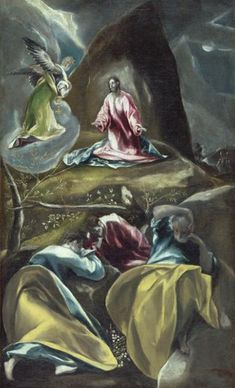 Christ in the Olive Garden - El Greco
