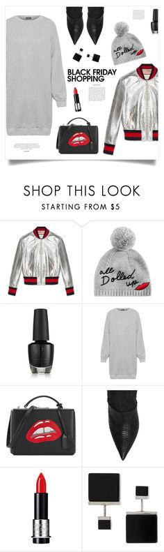 """Black Friday Shopping!"" by diane1234 ❤ liked on Polyvore featuring Gucci, Kate Spade, WearAll, Mark Cross, Balmain, MAKE UP FOR EVER and Vita Fede"