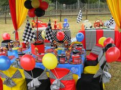 Disney's Cars themed kiddies party by Co-Ords Kidz Party Boutique