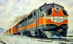 Back in the day, youngsters had more interest in railroads. A majority of boys, and some girls, asked for a train set for Christmas. They also collected trading cards but not all of them were about baseball. This one shows a colorful rendering of a Milwaukee Road set of Electo-Motive FT diesels. The FT's were new back in the 1940's so it's a good bet this card dates from that decade.