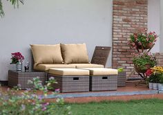 AuBergewohnlich U003culu003e U003cliu003eFSC Certified, Durable Acacia Wood Framesu003c/liu003e U003cliu003eUV Resistant,  Resin Weave For That Textured Rattan Effectu003c/liu003e U003cliu003eCouch,u2026