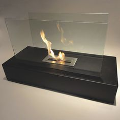 Fiamme Modern Glass Floor Fireplace from Nu-Flame