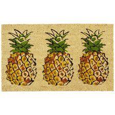 Pineapple Trio Doormat