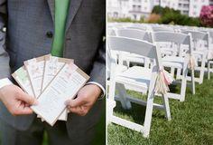 DIY wedding programs I made myself!