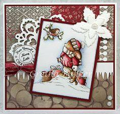 The card corner of Gretha; cuddly buddly image. Toby Tumble digital for CuddlyBuddly