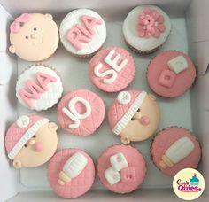Cupcakes Baby shower niña