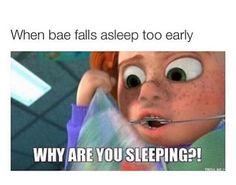 When bae falls asleep too early meme