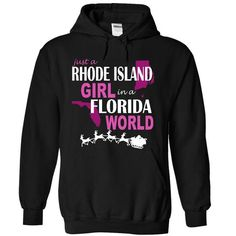 I Love Rhode Island girl in Florida. Shirts & Tees
