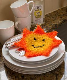 Happy Sun Scrubby (free pattern)