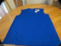 Mens ADIDAS active performance shirt medium climalite sleeveless royal Z51272