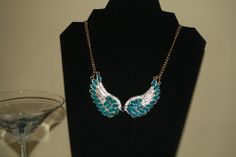 Ocean Blue Angel Necklace #collar #gold #jewelry #necklace #pretty #statement #turquoise ceesquared.ca $10