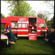 Amazing Dutch food festival with mobile kitchens.