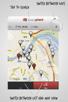 View Events near to you on a Map Near To You, Events, Map, Linz, Running Track, Location Map, Maps