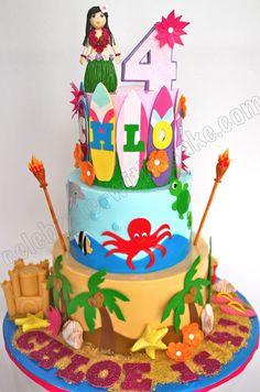 Celebrate with Cake!: Hawaiian Beach Themed Cake