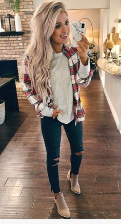 Are Looking for Best Fall Outfits ideas? We have the ultimate guide, with cute fall outfits, casual fall outfits, trending fall outfits, you can and should copy right now! Best Casual Outfits, Basic Outfits, Winter Fashion Outfits, Casual Fall Outfits, Mode Outfits, Fall Winter Outfits, Autumn Fashion, Winter Flannel Outfits, Winter Clothes