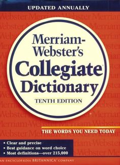 Back at college -- armed w/ the right dictionary! Merriam-Webster's Collegiate Dictionary by Webster http://www.amazon.com/dp/0877797080/ref=cm_sw_r_pi_dp_rN48vb136J5T4