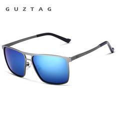 830eb15907  Wish  Guztag Unisex Stainless Steel Square Men Women Hd Polarized Mirror  Uv400 Sun