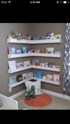 Rain Gutter Book Shelves. #Family #Trusper #Tip
