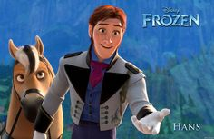 *HANS ~ Frozen, is a handsome royal from a neighboring kingdom who comes to Arendelle for Elsa's coronation. With 12 older brothers, Hans grew up feeling practically invisible—and Anna can relate. Hans is smart, observant and chivalrous. Disney Frozen Party, Frozen Theme, Frozen Birthday Party, Birthday Parties, Frozen Hans, Film Frozen, Walt Disney, Disney Love, Disney Magic