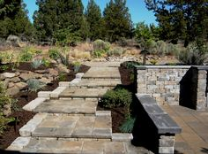 The crumbling concrete steps were removed and replaced with interlocking pavers.