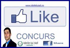 Super Concurs! LIKE & SHARE: http://ideileluiadi.wordpress.com/2012/08/31/concurs-ideile-lui-adi-ro/