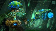 Wallpaper fungal lord, dota 2, art