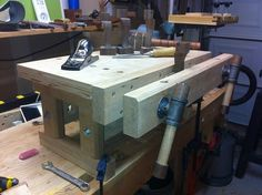 Benchtop Bench with Moxon Vise - by MacSteveT @ LumberJocks.com ~ woodworking community