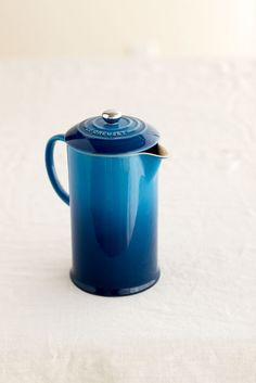 Photo Credit: Brie Williams . The new French press by Le Creuset. color insp.